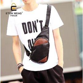 品牌直銷EW男士胸包 復古側背皮革小背包3062