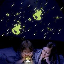 iStyle 壁貼 宇宙流星夜光貼^(小^)
