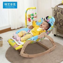 哄睡椅子嬰兒搖椅躺椅寶寶安撫椅兒童搖搖椅BB搖籃床哄睡實木加大0~4歲igo~型男原創館~