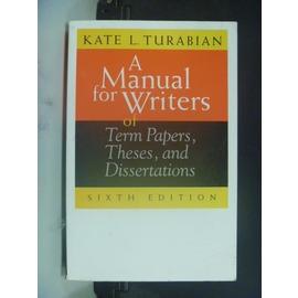 ~書寶 書T5╱原文書_GTP~A Manual for Writers of Term