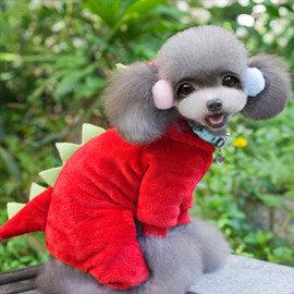 DP雜貨鋪  cosplay寵物服 恐龍四腳衣 貓狗衣服 多色  貴賓 比熊 博美