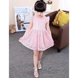 女童連身裙 2紗裙3 女童蕾絲公主裙寶寶長袖裙子秋