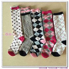 日安公主衣舖AC233~ 原單 五組多色中筒襪 2雙一組 中大童 29~36碼