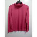 MIZUNO女生長袖高領發熱T恤 紅粉色 吸濕 排汗 發熱 保暖 立領 內搭 寒冬~32J
