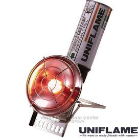 【日本 UNIFLAME】輕量高效能UH-C小型強力暖爐.瓦斯暖爐.小暖爐/-30℃燃燒可能/登山.露營.冬日戶外活動/630051
