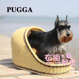 夏天狗窩藤編S~小型泰迪窩 雪納瑞 透氣寵物窩小型犬狗床igo~Dudubobo~