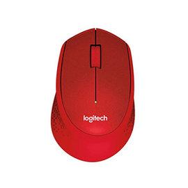 ^~硬派精璽^~ Logitech 羅技 M331 無線靜音光學滑鼠^|紅 0000100