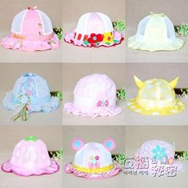嬰兒帽嬰兒遮陽帽0~3~6~12個月春夏女童涼帽公主透氣漁夫帽寶寶太陽帽子~Dudubob