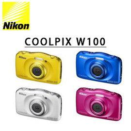 ~ 零利率~送16G高速記憶卡 清潔組 Nikon W100 防水潛水 相機 國祥 貨