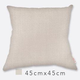 Basa原色抱枕^(含枕心^)~灰 45cm×45cm 仿麻布面 配色隱形拉鍊 素色單色單