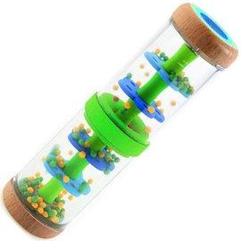 法國 DJECO 智荷 手搖鈴 木質雨聲玩具 ^#綠