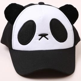 夏天兒童帽子熊貓棒球帽可愛親子鴨舌帽戶外男女遮陽防曬帽寶寶帽CGQ