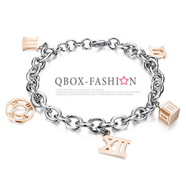 ~ QBOX ~FASHION 飾品~W10008190~ 精緻韓系時間羅馬數字玫瑰金31