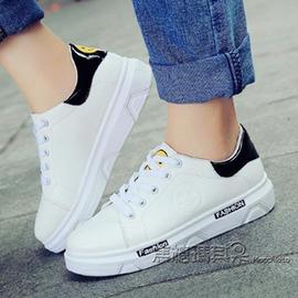 春 小白鞋女休閒鞋厚底板鞋 鞋女學生跑步鞋透氣鞋子