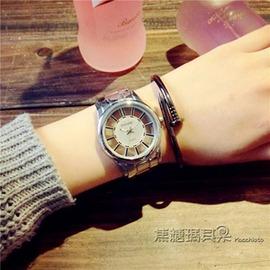 鏤空女士手錶男學生 簡約 潮流中性情侶錶鋼帶機械石英男錶