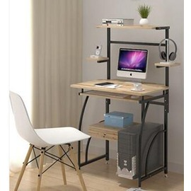 環保電腦桌臺式家用間約 桌間易書架辦公桌桌筆電桌~3C 館~