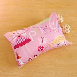 枕頭 兒童枕~防蹣抗菌纖維枕 精梳棉 公主城堡 美國棉 品牌^~鴻宇^~ 製~1899粉