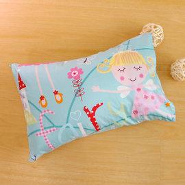 枕頭 兒童枕~防蹣抗菌纖維枕 精梳棉 公主城堡 美國棉 品牌^~鴻宇^~ 製~1899綠