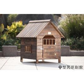 狗屋直銷室外碳化防腐防雨木質狗屋帶門窗狗屋狗窩貓屋寵物屋~3C 館~TW