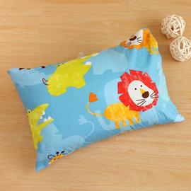 枕頭 兒童枕~防蹣抗菌纖維枕 精梳棉 快樂獅子 美國棉 品牌^~鴻宇^~ 製1836