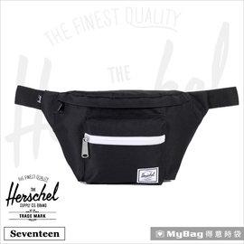 Herschel 腰包 Seventeen~001 黑色 單肩側背包 MyBag得意時袋