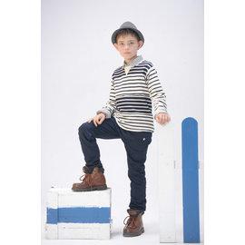 baby king  6211 鋪棉藍色平織褲 100CM^~160CM