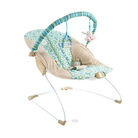 BrightStarts嬰兒電動智能搖搖椅哄睡搖床搖籃寶寶抖動秒殺~型男株式會社~