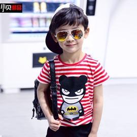 男童短袖T恤 休閒體恤潮大童夏裝男兒童左西 風格: