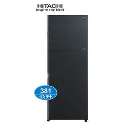 ~HITACHI日立~381公升琉璃變頻雙門冰箱^(RG399GGR 琉璃灰^)