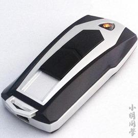 車鑰匙USB充電打機汽車蘭博基尼車模型電子點煙器 防風