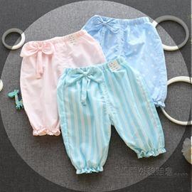 女寶寶 圓點透氣防蚊中褲女嬰兒夏裝燈籠褲子女 ~浪漫衣櫥~