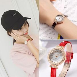 潮流女學生手表簡約復古小巧細皮帶女表小表盤 防水石英表日~3C 科技館~
