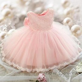 兒童裙子公主裙女童夏裝連身裙中大童寶寶周歲蓬蓬裙花童婚紗禮服
