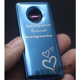 防風超薄電弧打火機搖一搖瞬間點火USB充電電子點煙器金屬男~3C 館~