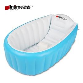 Intime盈泰寶寶游泳池兒童充氣澡盆浴缸嬰兒保溫加厚沐浴盆igo~浪漫衣櫥~