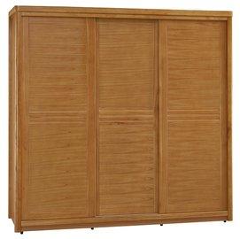 ~奇威居家 館 ~~D17004~1~愛莉絲柚木7尺推門衣櫃 衣櫥 雙人床 化妝台 斗櫃