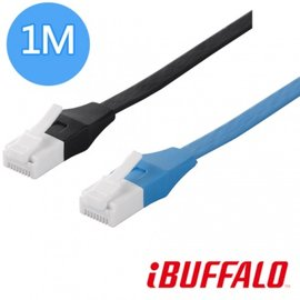 Buffalo 專利水晶頭卡榫反折斷 Cat6 平板 線  1M