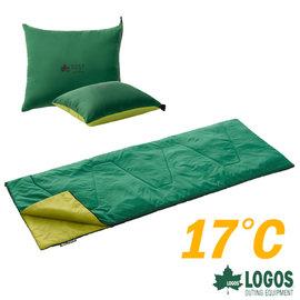 ~ LOGOS~ROSY 17℃丸洗靠墊中空棉睡袋.信封型睡袋 中空纖維.透氣保暖.露營.