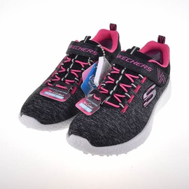 Skechers  Burst系列 黏扣兒童慢跑鞋-黑 81906LBKHP