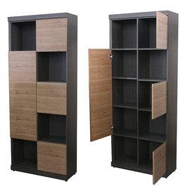 ~尚品傢俱~412~21 詹姆士雙色^(柚木色^) 書櫃 ^~ 白色 開門書櫃 書櫥收納櫃