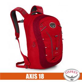 【美國 OSPREY】Axis 18 L 城市穿梭電腦背包. 24seven全天候系列後背包.電腦包.書包/出差.健行.旅行.跑步/紅 R