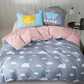 ~PAINT~北歐風格,小晴天,精梳棉,單人床包,兩用薄被套三件組 A01121852