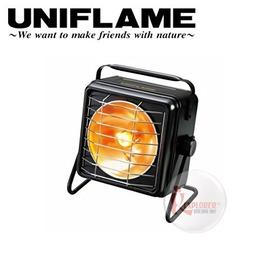 探險家戶外用品㊣630037 日本製 UNIFLAME 長效方形暖爐 (黑)電子點火雙瓦斯暖爐 取暖烤爐替代焚火台新選擇