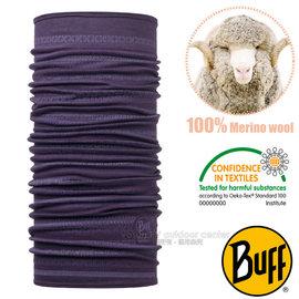【西班牙 BUFF】頂級 Merino 超輕量超彈性恆溫保暖魔術頭巾(吸溼排汗+抗菌除臭)可當圍巾_口罩_圍脖帽子_113255 浪漫莓紫