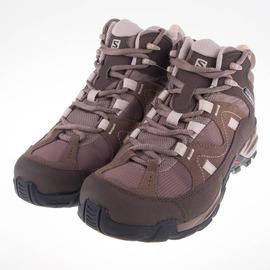 salomon  女HILLPASS GTX中筒登山鞋-灰/咖 L38139100