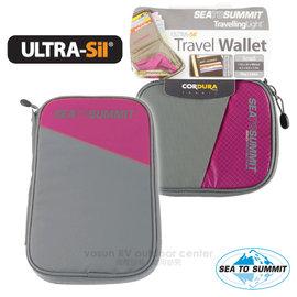 【澳洲 Sea To Summit】Ultra-Sil  Travel Wallet 輕量旅行用安全錢包(S).RFID防盜皮包.貼身防盜側背包.防搶錢包_STSATLTWRFID 桃紅
