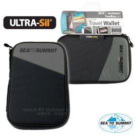 【澳洲 Sea To Summit】Ultra-Sil  Travel Wallet 輕量旅行用安全錢包(S).RFID防盜皮包.貼身防盜側背包.防搶錢包_STSATLTWRFID 黑