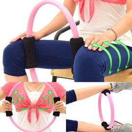有氧美型彈力韻律圈C109-5803健身圈瑜珈圈美體圈.美腿夾貝殼機剪肥圈瑜珈環健美環.普拉提圈.美腿機運動器材推薦哪裡買