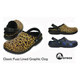 ~ 湯米小花 ~ Crocs Classic Fuzz Lined Graphic Clo