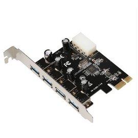 新竹市 USB 3.0 PCI-E 主機板擴充卡/轉接卡 (4阜/4 port) **支援WIN10 MAC**